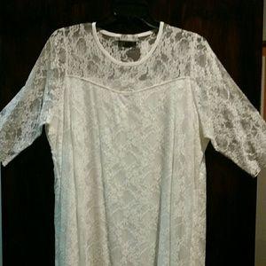 Dresses & Skirts - Plus size ivory lace dress